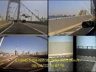 FEC107取り付け後のドライブレコーダー映像サンプル レインボーブリッジ通過中
